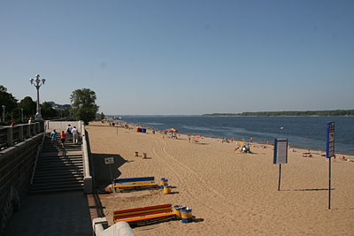 Improbable Volga beach